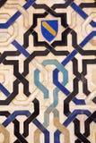 Shield of the Nazari kingdom of Granada. XIV century. Alhambra, Granada, Spain Stock Photography