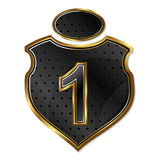 Shield with number vector Royalty Free Stock Photos