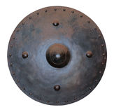 Shield. The old medieval shield, isolated on white background Royalty Free Stock Photos