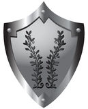 Shield with ornament Stock Photography