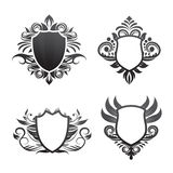 Shield ornament set vector Royalty Free Stock Image