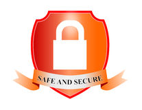 Shield with padlock. Vector art of a Shield with padlock hacker safe Stock Photos