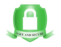 Shield with padlock safe  Royalty Free Stock Photography