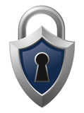 Shield Padlock Stock Photo
