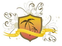 Shield of Palms Stock Photography