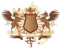Shield with pegasus Royalty Free Stock Photography