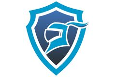Shield protect scure harness logo vector dsign. Shield protect scure harness logo vector blue dsign healtcare Stock Images