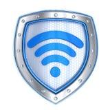 Shield, protect wi-fi symbol Royalty Free Stock Photos
