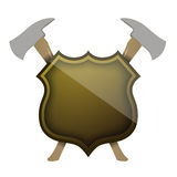 Shield of protection Stock Image