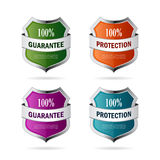 Shield protection abstract icon. S set Stock Image