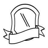 shield protection emblem outline empty Royalty Free Stock Photo