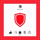 Shield, protection icon. Signs and symbols - graphic elements for your design Stock Image