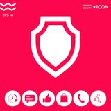 Shield - protection icon. Signs and symbols - graphic elements for your design Stock Images
