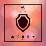 Shield - protection icon. Sign and symbols. Graphic elements for your design Royalty Free Stock Photography