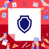 Shield - protection icon. Signs and symbols - graphic elements for your design Royalty Free Stock Image