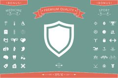 Shield. Protection icon. Signs and symbols - graphic elements for your design Royalty Free Stock Photo