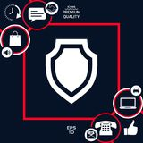 Shield - protection icon. Signs and symbols - graphic elements for your design Stock Image