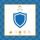 Shield. Protection icon. Signs and symbols - graphic elements for your design Royalty Free Stock Images