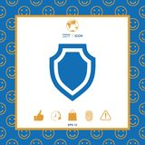 Shield - protection icon. Signs and symbols - graphic elements for your design Royalty Free Stock Photos