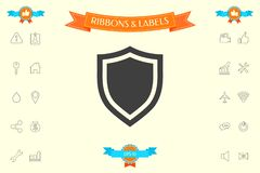 Shield. Protection icon. Signs and symbols - graphic elements for your design Royalty Free Stock Photos