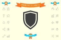 Shield, protection icon. Signs and symbols - graphic elements for your design Stock Photo