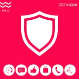 Shield. Protection icon. Signs and symbols - graphic elements for your design Stock Photos