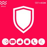 Shield, protection icon. Signs and symbols - graphic elements for your design Royalty Free Stock Image