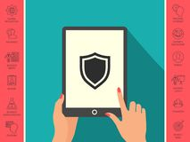 Shield. Protection icon. Signs and symbols - graphic elements for your design Stock Photo