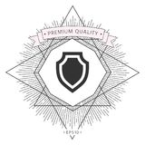 Shield - protection icon. Signs and symbols - graphic elements for your design Royalty Free Stock Photo