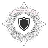 Shield. Protection icon. Signs and symbols - graphic elements for your design Royalty Free Stock Image