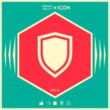 Shield, protection icon. Signs and symbols - graphic elements for your design Royalty Free Stock Images