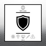 Shield. Protection icon. Sings, symbols - graphic elements for your design Stock Photos