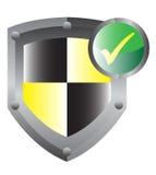 Shield Protection Stock Photo