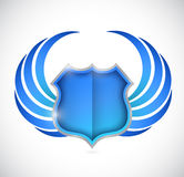 Shield protection illustration design Royalty Free Stock Photos