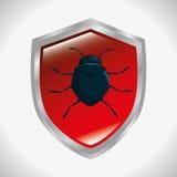 Shield protection informatic virus Stock Image