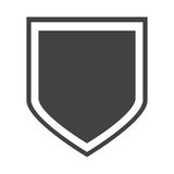 Shield protection insignia honorary Stock Images