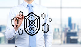 Shield and protection Royalty Free Stock Images