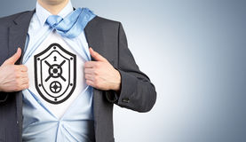 Shield and protection Royalty Free Stock Photo