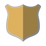 shield protection mediavel emblem empty shadow Stock Photos