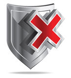 Shield (Protection OFF) Royalty Free Stock Photography