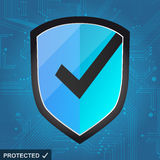 Shield Protection - secure internet Stock Image