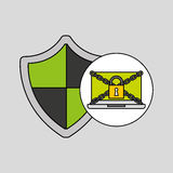 Shield protection security internet technology Royalty Free Stock Images
