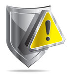 Shield (Protection - Warning sign) Royalty Free Stock Photo