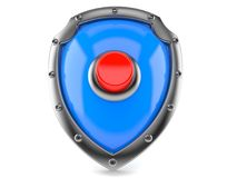 Shield with push button Stock Images