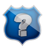 Shield question mark illustration design Royalty Free Stock Image