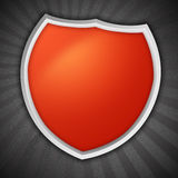 Shield on Rays Background Stock Photos