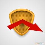 Shield reflect arrow. Protection conceprt. Vector Stock Photo