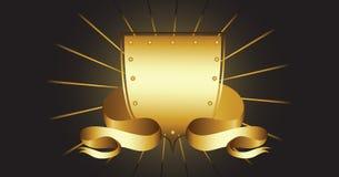 Shield and ribbon Royalty Free Stock Photo