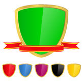 Shield with Ribbon Stock Photography