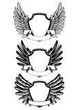 Shield and ribbon. Vector illustration  shield and ribbon Royalty Free Stock Photography